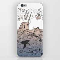 narwhal iPhone & iPod Skins featuring Narwhal by Judit Canela