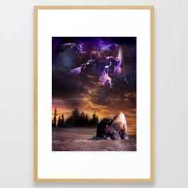 Bufalo Nights Framed Art Print