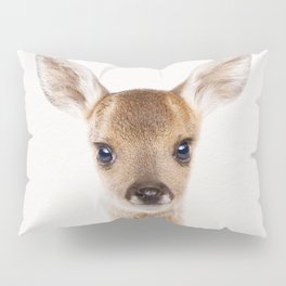 Baby Deer, Baby Animals Art Print By Synplus Pillow Sham