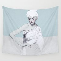 audrey Wall Tapestries featuring Audrey by Jenny Liz Rome