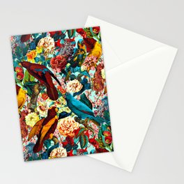 FLORAL AND BIRDS XV Stationery Cards