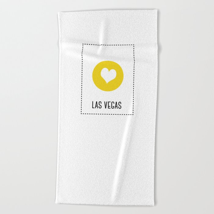 I Love Las Vegas Beach Towel By