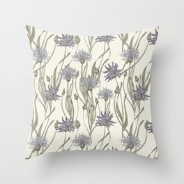 vintage cornflowers Throw Pillow