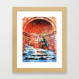 Catanzaro: fountain Framed Art Print