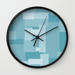 Matted Shades of Blue - Color Therapy Wall Clock