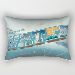Retro Greetings Postcard (Water Tribe) Rectangular Pillow