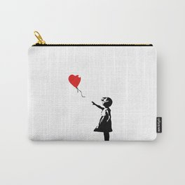 Banksy Girl with Ballooon reproduction Carry-All Pouch