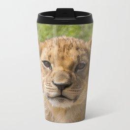 Baby Lion Cub Metal Travel Mug