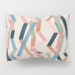 Straight Geometry Ribbons 1 Pillow Sham