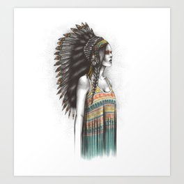 Silent Warrior Art Print