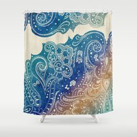 princess Shower Curtains featuring Mermaid Princess  by rskinner1122