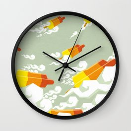 Flight of the rockets Wall Clock