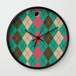 Shinbone's Green Nightie 4 Wall Clock