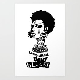 Young Gifted And Black Art Print