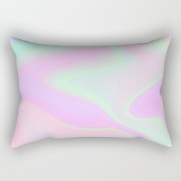 Holographic Unicorn Style Rectangular Pillow