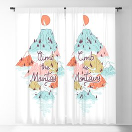 Misty Mountains Blackout Curtain