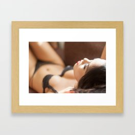 Ladyboy Isabella Relaxing in the Sunlight Framed Art Print