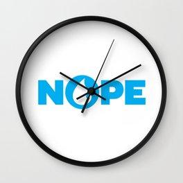 Nope Blue Magic Funny Wall Clock