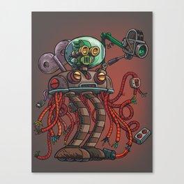 Robot recorder Canvas Print