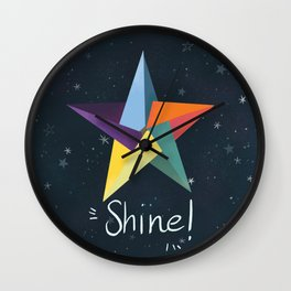 You are a star. Shine! Wall Clock
