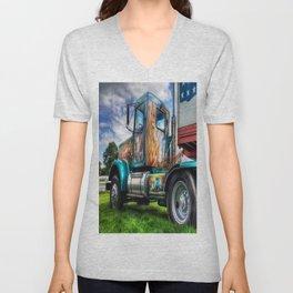 Circus Truck Artwork Unisex V-Neck