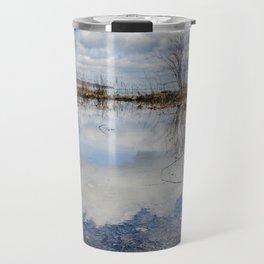 Water and Sky reflections Travel Mug
