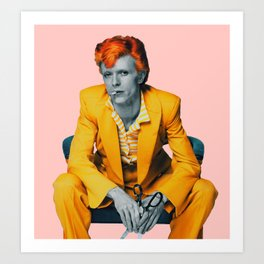 pinky bowie 2 Art Print