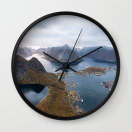 Reinebringen view, Lofoten Wall Clock