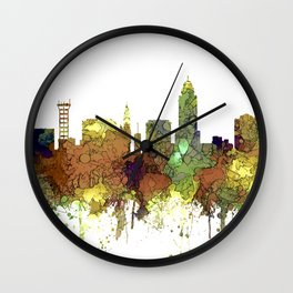 Lincoln, Nebraska Skyline - Safari Buff Wall Clock