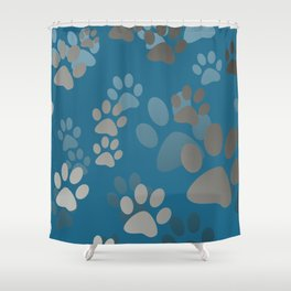 Footprint Animal turquoise Shower Curtain
