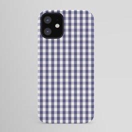 USA Flag Blue Large Gingham Check Plaid iPhone Case