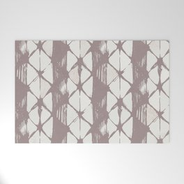 Simply Braided Chevron Red Earth on Lunar Gray Welcome Mat