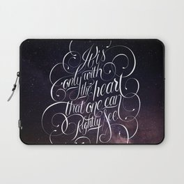 Only with the heart Laptop Sleeve