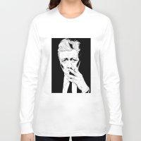 david lynch Long Sleeve T-shirts featuring David Lynch by Olivier Carignan