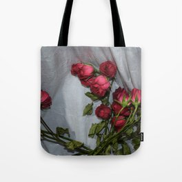 Trash Can Bouquet Tote Bag