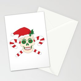 Creepy Christmas Santa Skull Stationery Cards