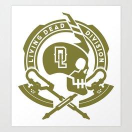 gundam livin dead division zeon Art Print