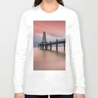 wooden Long Sleeve T-shirts featuring  Wooden Pier by davehare