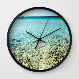 summer day in Croatia Wall Clock