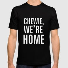 Chewie, We're Home Mens Fitted Tee Black MEDIUM