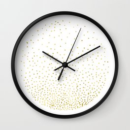 Spray of Gold Dots, Modern Abstract Print,Contemporary Wall Art, Wall Clock