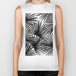 Tropical Fan Palm Leaves #2 #tropical #decor #art #society6 Biker Tank