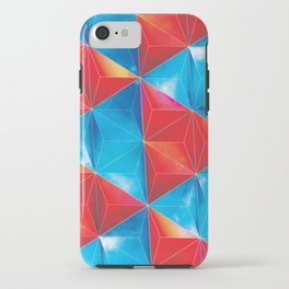 Space Triangles iPhone Case