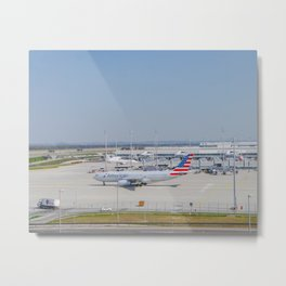 Flight AA717 MUC-PHL Metal Print