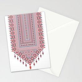 Palestinian tatreez embroidery pattern Stationery Cards