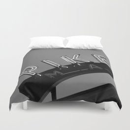 Seattle Pike Place Market Black and White Duvet Cover