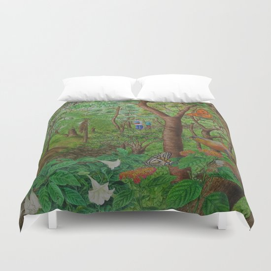 A Day of Forest (1). (walk into the forest) Duvet Cover