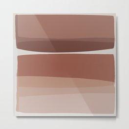 Modern Blush, Pink Painting, Pink Ombre Metal Print