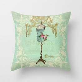Mannequin Rose Throw Pillow