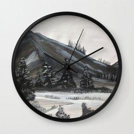 Joyous Mountains Wall Clock